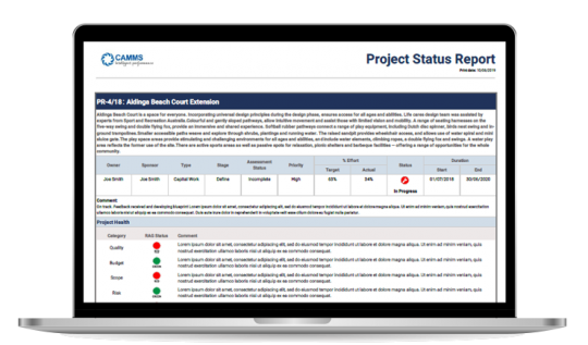 Project Status Report | Insights